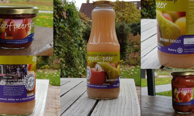Nieuwe oogst sap en peren